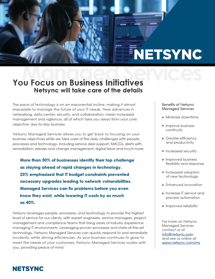 Netsync Managed Services Collateral