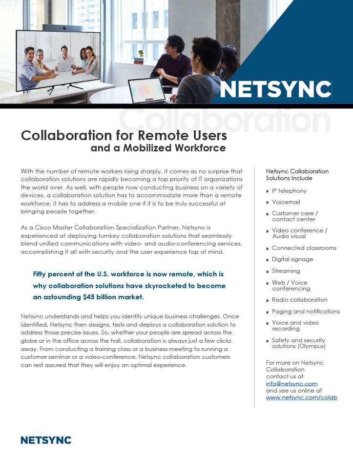 Netsync Collaboration Collateral