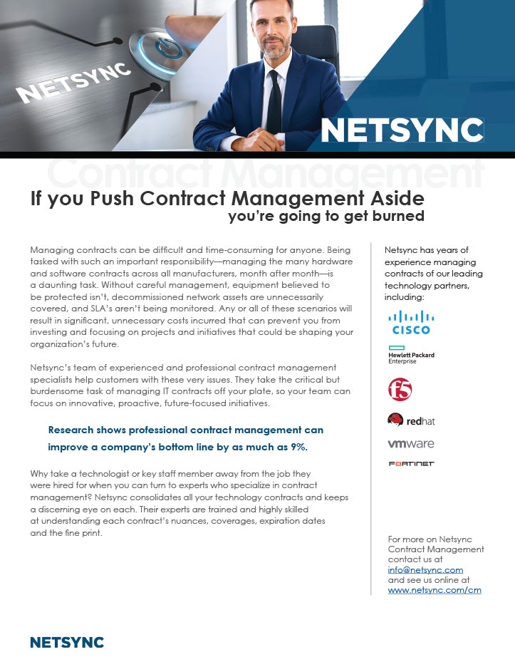 Netsync Contract Management Collateral