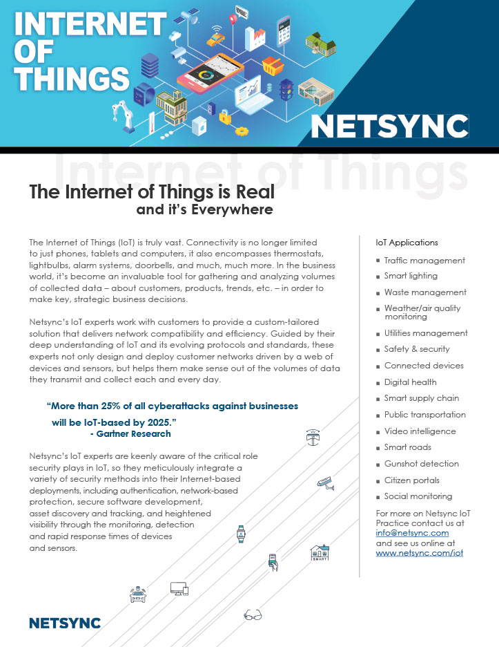 Netsync Internet of Things Collateral
